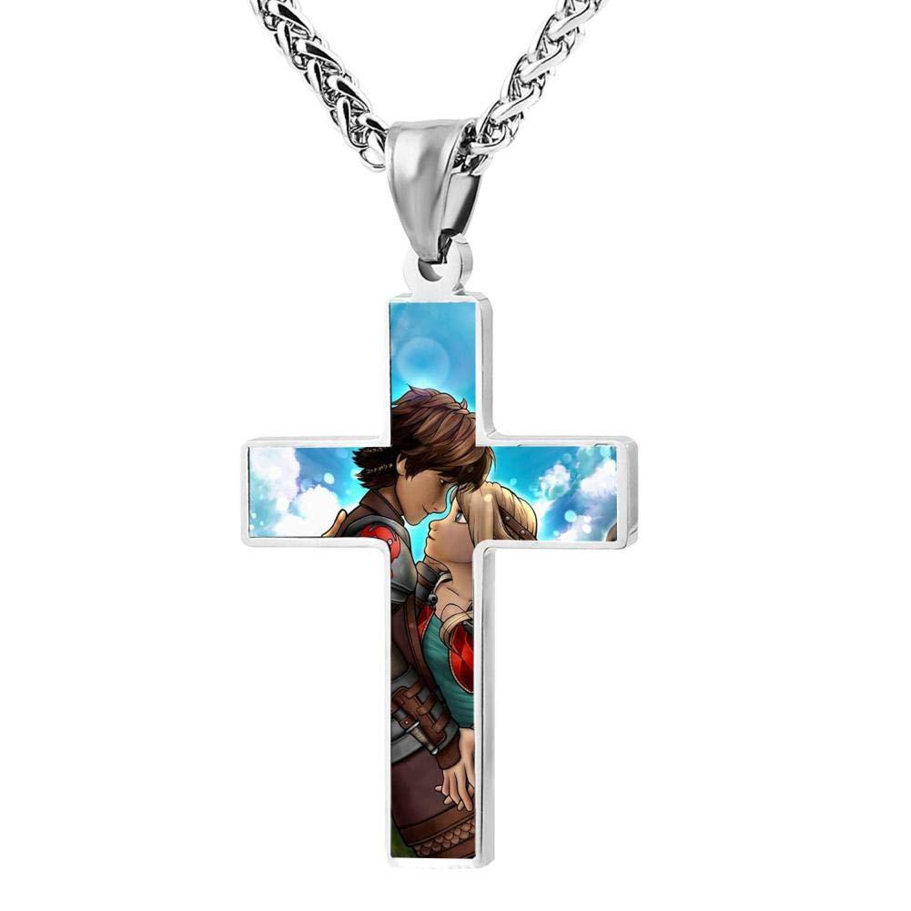 KOTOKTO How to Train Your Dragon Hidden World Cross Religious Jewelry Pendant Necklace