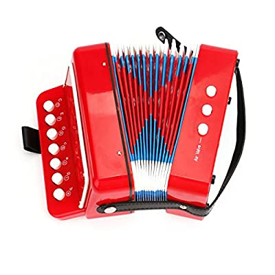Tosnail Kids Piano Percussion Accordion Musical Toy, Red: Musical Instruments
