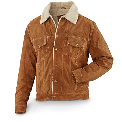 Boar Suede Jacket (Scully Men's 113 Suede Jacket, Cafe Brown, 2XL)