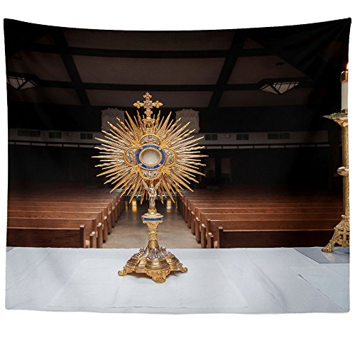 Westlake Art - Church Catholic - Wall Hanging Tapestry - Picture Photography Artwork Home Decor Living Room - 68x80 Inch (37A24) by Westlake Art