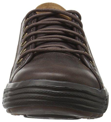 Skechers 64737 USA Men's Porter Ressen Oxford, Chocolate, 11.5 M US