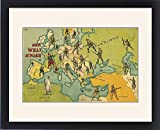 Framed Print of World War One Combatants - Map of Europe