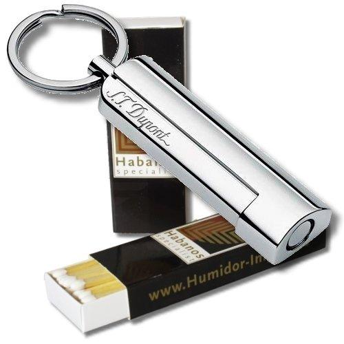 Dupont Zigarrenbohrer MAXIJET chrom-gl/änzend S.T 2x Habanos-Specialist Streichholz