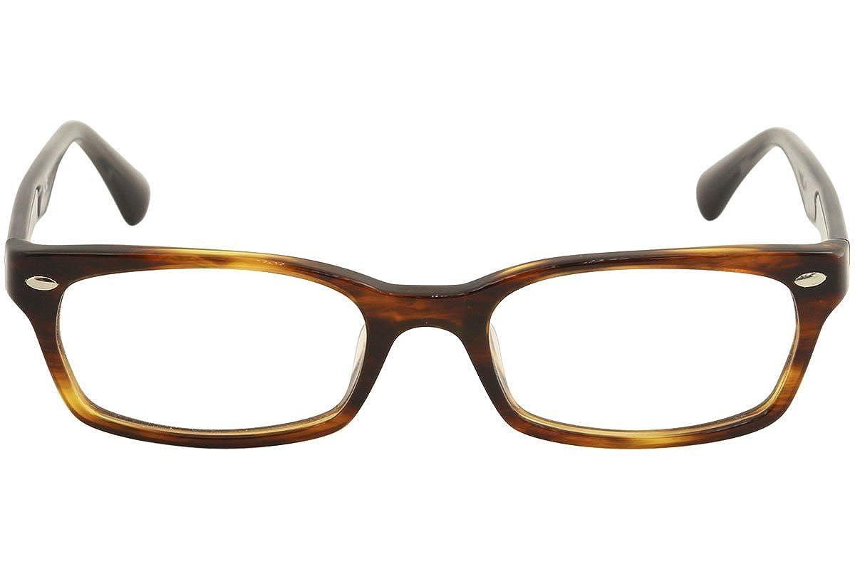 dcccb5049a Amazon.com  Eyeglasses Ray-Ban Optical RX 5150F 5607 STRIPED HAVANA  Shoes