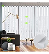 Yoolax Motorized Vertical Blinds Works with Alexa, Light Filtering Smart Window Blind with Remote...