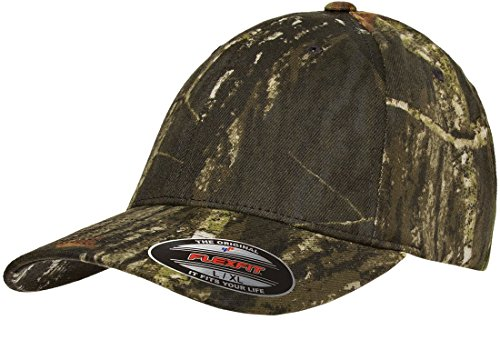Flexfit Mossy Oak Camouflage Cap, Mossy Oak Break-Up, Large / X-Large