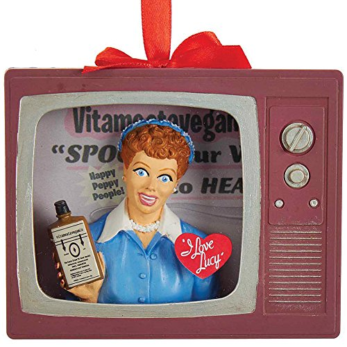 Seasonal I Love Lucy - Vitameatavegamin TV-Shaped Acrylic Christmas Ornament