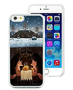 Special Custom Made iPhone 6 Case,Winter Foxes White iPhone 6 4.7 Inch TPU Case 1