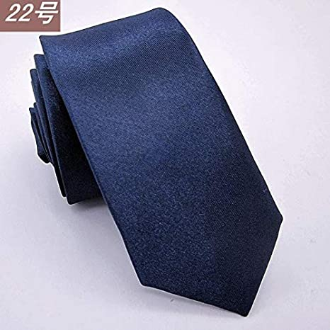 FAHFO Corbatas Corbata Negra Delgada para Trajes De Hombre ...