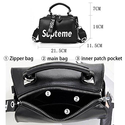 Leather Shoulder 5 Fashion Wild Casual Black Colore 11 PU 21 NERO 5 Ladies Messenger 14cm Handbag Nero Bag qqnXPz