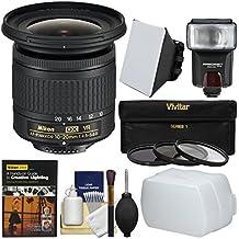 Nikon 10-20mm f/4.5-5.6G DX AF-P VR Zoom-Nikkor Lens with 3 Filters + Flash + Soft Box + Diffuser + DVD + Kit