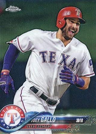 Amazoncom 2018 Topps Chrome Baseball 108 Joey Gallo Texas
