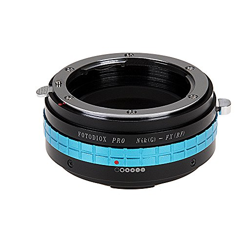 Fotodiox Pro Lens Mount Adapter - Nikon Nikkor F Mount G-Type D/SLR Lens to Fuji Film X-Series Mirrorless Camera Body (X-Mount), with Built-In Aperture Control Dial