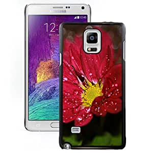 Flower Drops Hard Plastic Samsung Galaxy Note 4 Protective Phone Case