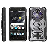 TurtleArmor | Compatible for ZTE Prestige 2 Case | ZTE Maven 3 Case | ZTE Overture 3 Case [Octo Guard] Dual Layer Case Holster Belt Clip Sturdy Kickstand Cover – Classic Game Controller