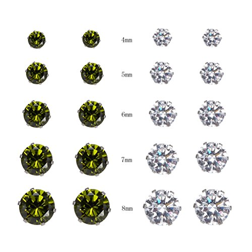 BRCbeads Quality Stainless Zirconia Earrings