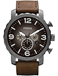Fossil Nate Brown Leather Chronograph Mens Watch JR1424