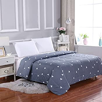 All Season Super Soft Microfiber Comforter Full/Queen Grey by MELODY HOUSE