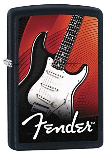 Zippo Lighter: Fender Guitar - Black Matte 79314 ()