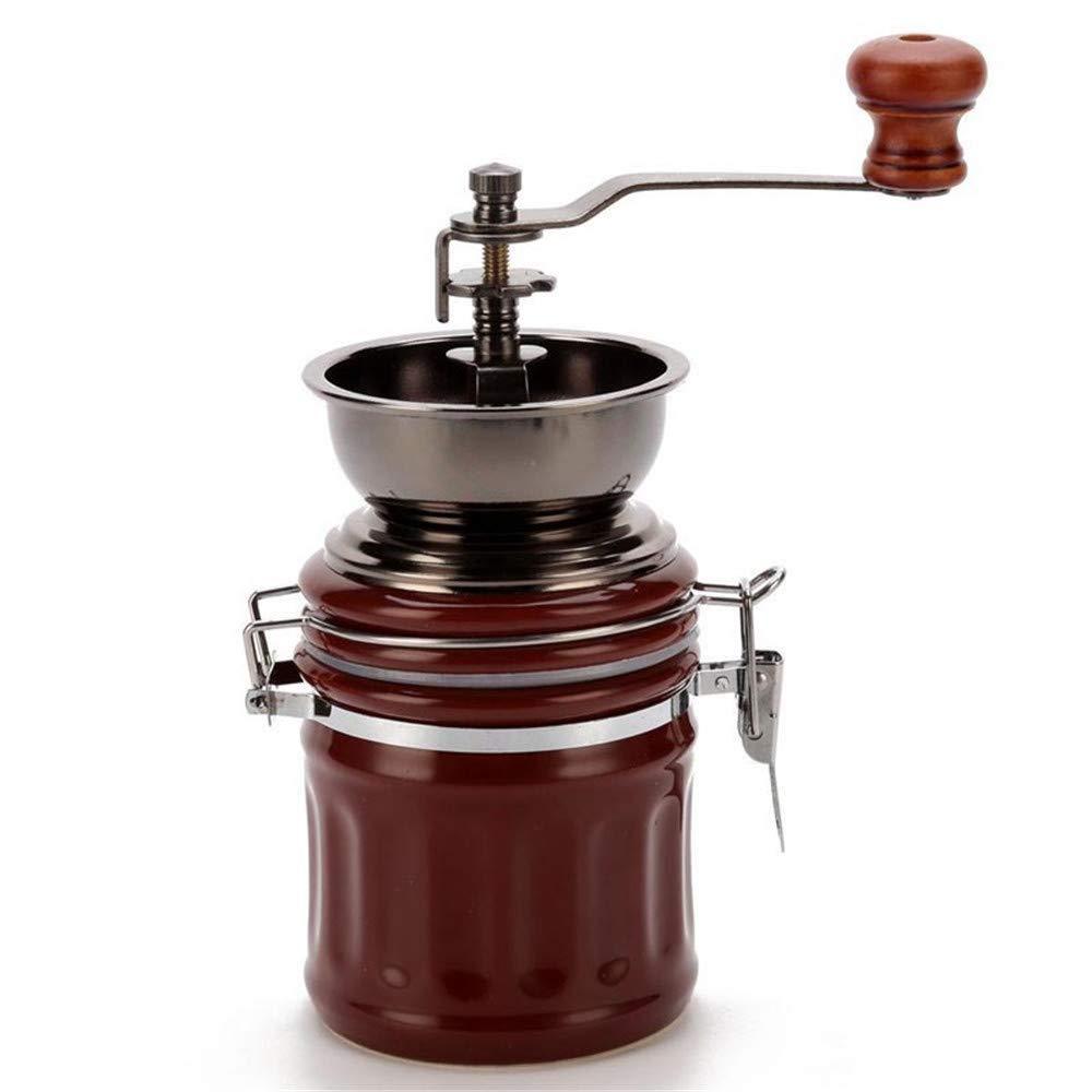 Molinillos de caf/é manuale Molino de cer/ámica Granos caf/é Maker Grinder Retro Home Office