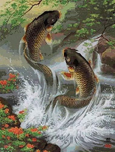 5d Pintura Por Diamantes (peces)