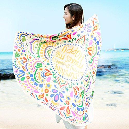 SAIBANGZI Mujeres Nieve Hilado Toalla Ronda Nieve Spinning Toalla Mujer Primavera y Otoño Protector Solar Mantón Nacional Viento Dama Playa Bufanda. Cisne ...