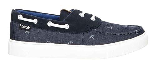 NÁUTICOS WAU Denim Azul Intenso/Denim Stripes: Amazon.es: Zapatos y complementos