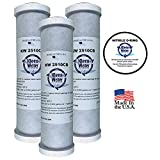 gxwh04f water filter - GE GXWH04F, GXWH20F, GXWH20S & GXRM10 Compatible Water Filter, KleenWater KW2510CB Carbon Block Replacement Cartridge, Set of 3, Includes O-Ring.