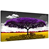 Canvas Wall Art Purple Tree Pictures Artwork for Decor /Canvas Printing Home Decoration Purple Landscape Wall Art Size:20x40inch 1pcs/set