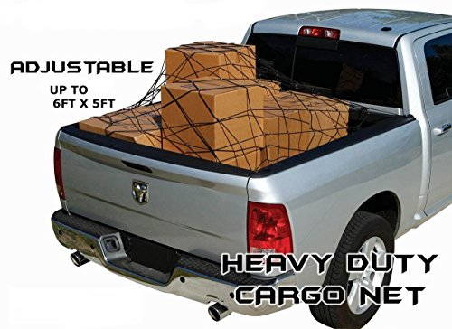 Egreaten Xl Bungee Cargo Net Heavy Duty 10 Hooks For Pick Up Truck   Suv   Sedan