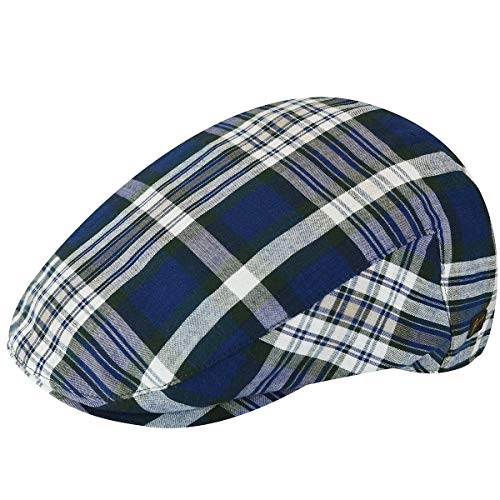 Bailey of Hollywood Men's Mastron Checked Ivy Cap, Hunter Plaid, XL