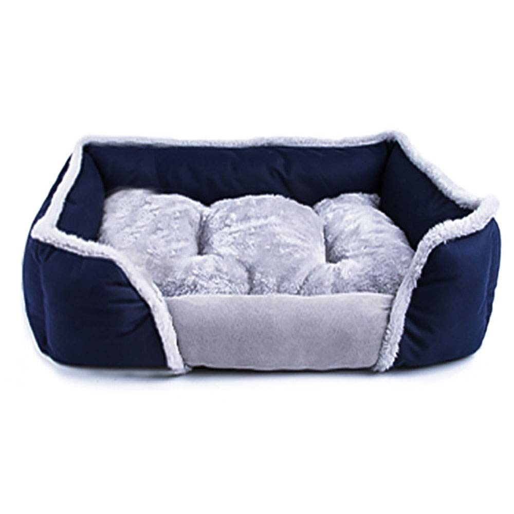 bluee SmallGperw The Dog's Bed, Memory Foam Dog Bed Shu Cotton Velvet Using High Elasticities Slow Rebound Solid Memory Foam, Detachable and Washable Breathable Kennel Non Slip Cushion Pad