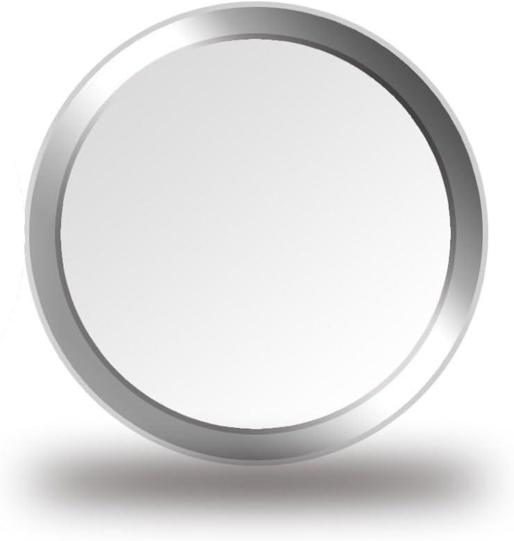 CellBee® 2X Touch ID Pegatina Ajustadora para El Botón De Inicio iPhone iPad Plata - para El Uso con Un Protector De Pantalla Vidrio Templado 3D - Nivela La Elevación del Cristal Templado