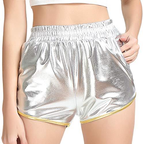Rave Shorts Women Rave Clothing Shiny Alien Costume ()