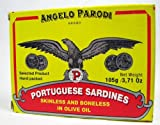 Angelo Parodi Brand Portuguese Sardines Skinless and Boneless in Olive Oil 105 Gr