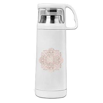 Mandala Rose oro rosa Shimmer Custom taza de viaje botella de agua vacío Copa Termo, acero inoxidable 14 oz: Amazon.es: Deportes y aire libre