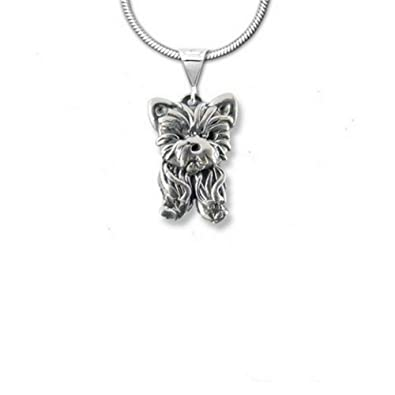 Amazon sterling silver yorkie puppy pendant by the magic zoo sterling silver yorkie puppy pendant by the magic zoo aloadofball Gallery