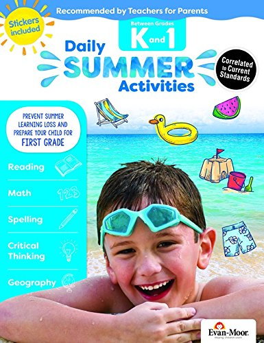Evan-Moor Daily Summer Activities, Between Kindergarten and 1st Grade Activity Book; Summer Bridge Activities for ()