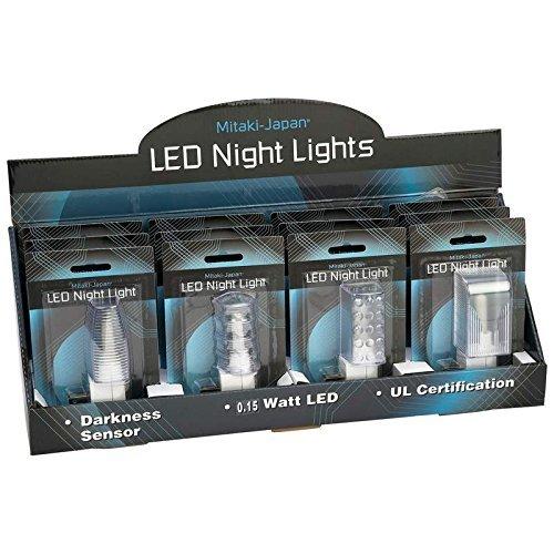 Mitaki ELNL12 12 Piece LED Sensor Night Lights in Countertop Display by Mitaki
