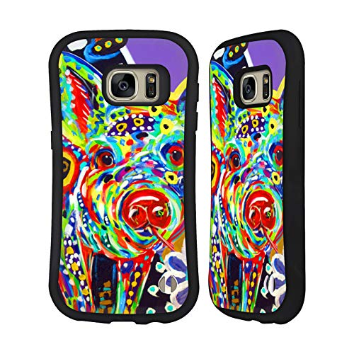- Official Mad Dog Art Gallery Pig Animals Hybrid Case for Samsung Galaxy S7