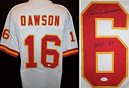 Len Dawson Autographed Signed Kansas City Chiefs Custom Jersey with JSA  Witnessed Authenticity and Hall of 7f9547aa4