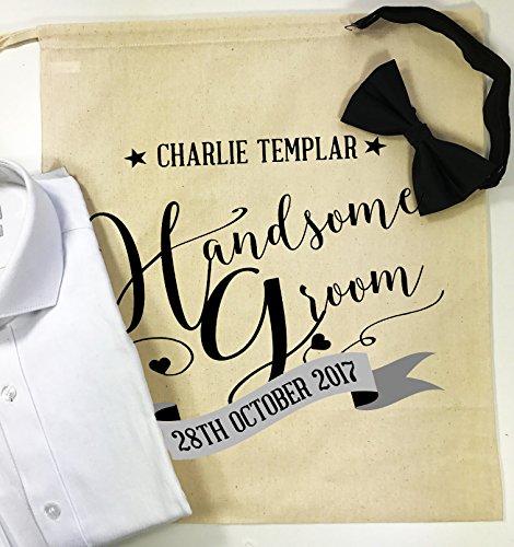 Personalizzato Handsome Groom grandi Morning sacchetto regalo di nozze