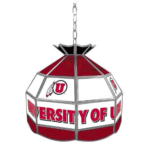 NCAA University of Utah Tiffany Gameroom Lamp, 16'' by Trademark Gameroom