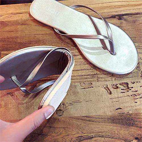 Y Mujeres Playa Flop Zapatillas Abiertas Para De Simple Sandalias Livianas Con b Plataforma Fáciles Flip Tirar Mujer Ducha Verano TwPq7R