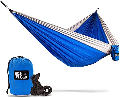 Bear Butt Double Parachute C&ing Hammock Blue / Gray  sc 1 st  Backcountry Chronicles & A Canvas Wall Tent - Camping Without Hauling a Trailer