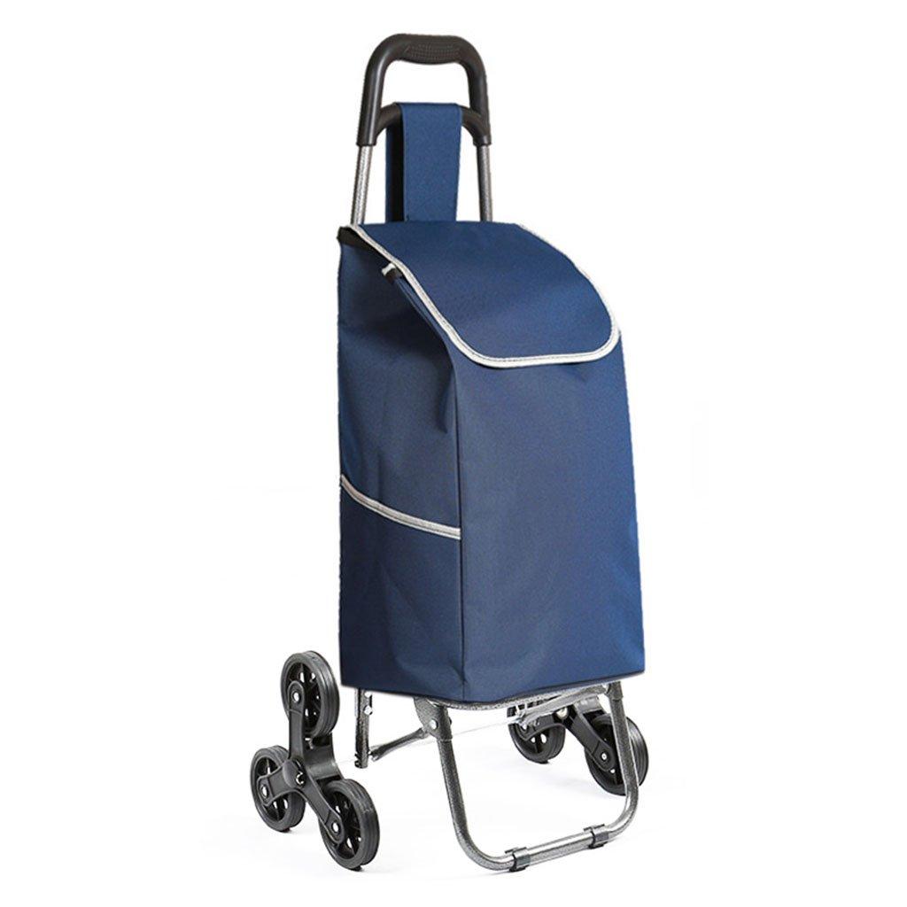 ショッピングカート、折り畳み式ショッピングカート_360°スイベルカート、多目的_子供が座り、商品を引っ張ることができる、30KGに耐えることができる (Color : Blue, Size : 93 * 34cm) B07FM3W3LX 93*34cm|Blue Blue 93*34cm