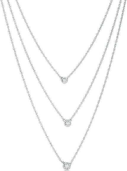 HN Jewels Womens 1//2CT Lab Created Diamond 14K White Gold Plated Three-Stone Swirl Pendant Necklace