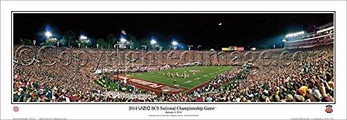 【再入荷】 1月6日、2014 Wood VIZIO BCS National Championship Game Florida State vsオーバーン State vsオーバーン – NCAAコラージュFootballパノラマポスター# 5044 15.5x41 Matted & Brown Wood Framed Poster B01FCCF6GS, オトイネップムラ:240506a0 --- mcrisartesanato.com.br