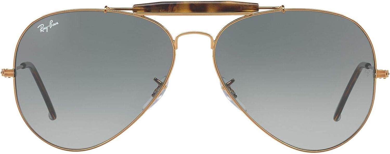 TALLA 62. Ray-Ban Outdoorsman II Gafas de sol, Shiny