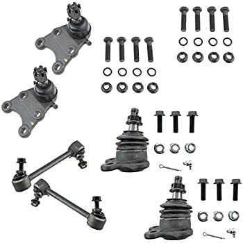 Sway Bar Ends /& Inner Outer Tie Rod w//Steering Rack Boots for 2004-2005 Chevy Colorado GMC Canoyon 4x4 2WD Torsion Bar 12pc Front Upper//Lower Ball Joints